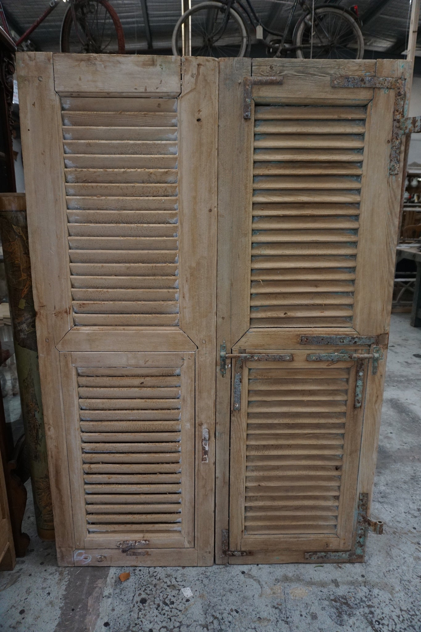 Pair of Vintage French Shutters
