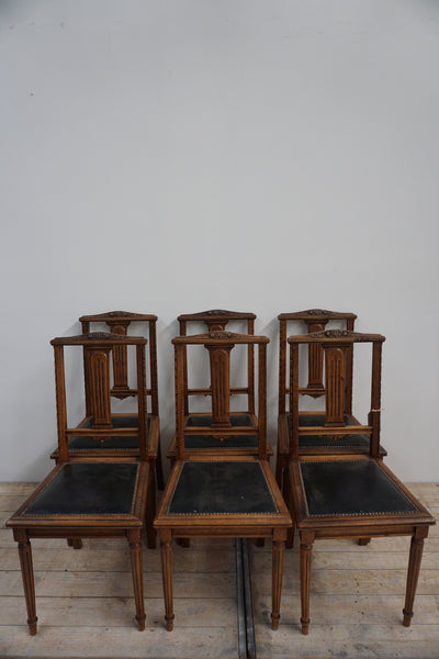 Antique French Set of 6 Dining Chairs