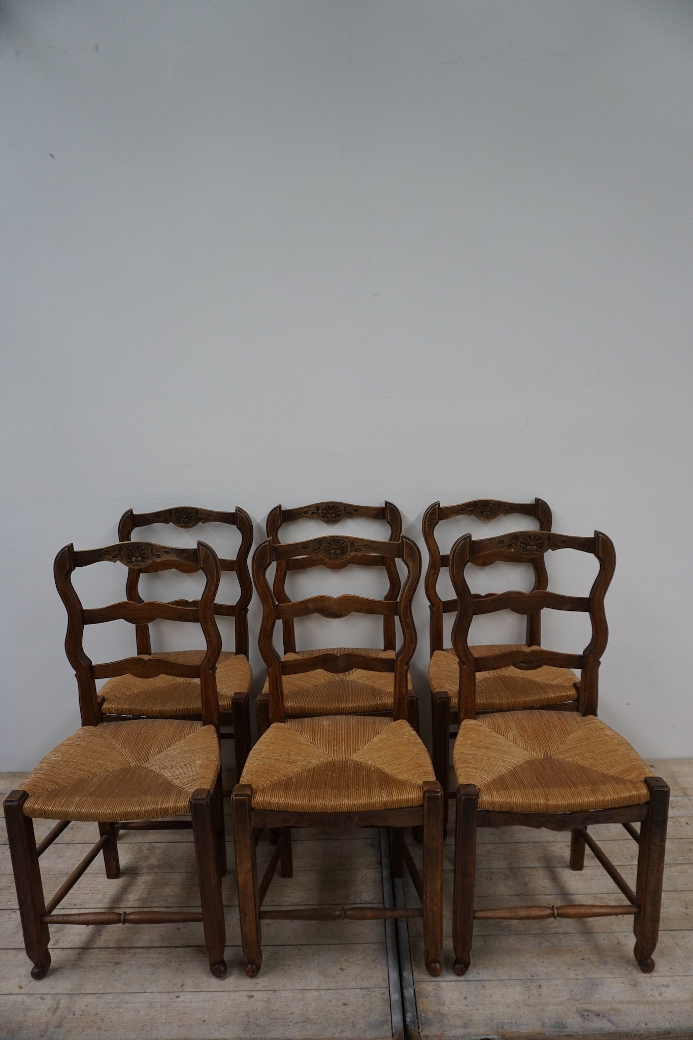 Set of 6 Antique French Dining Chairs