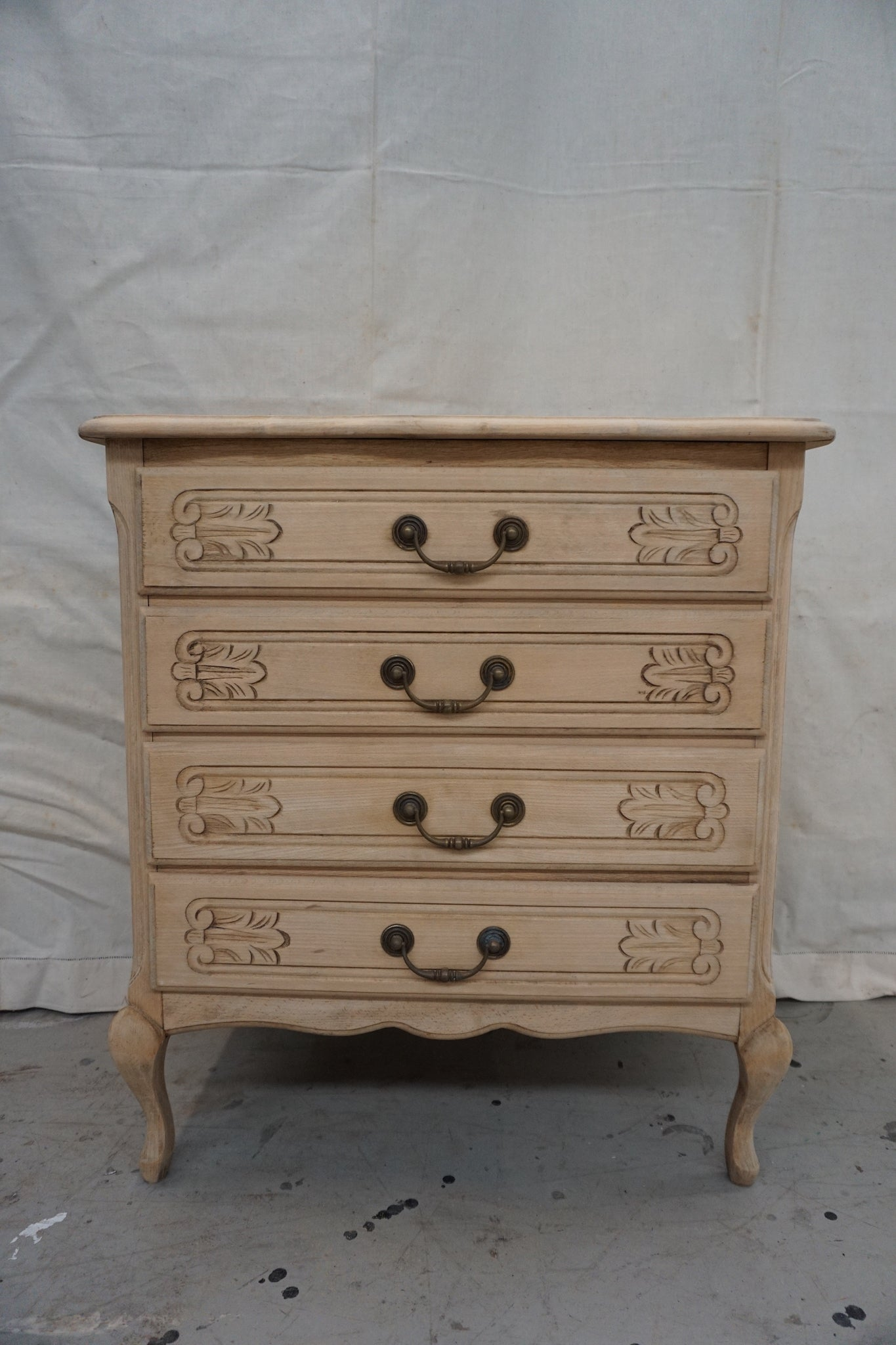 Vintage French 4 Drawer Commode