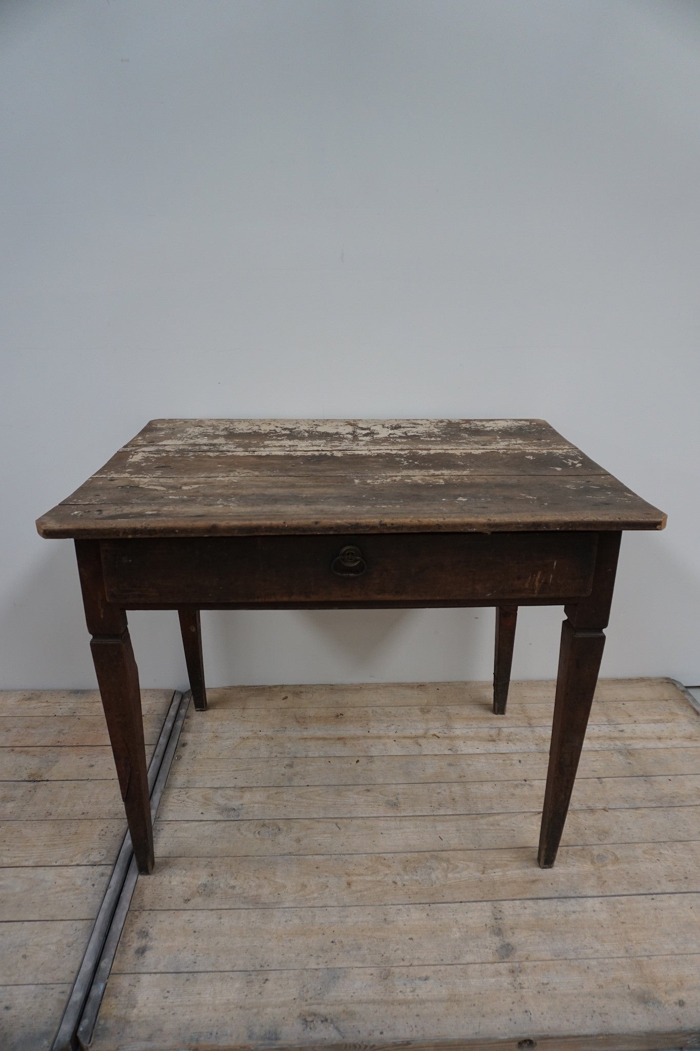 Antique French Rustic Wooden Desk