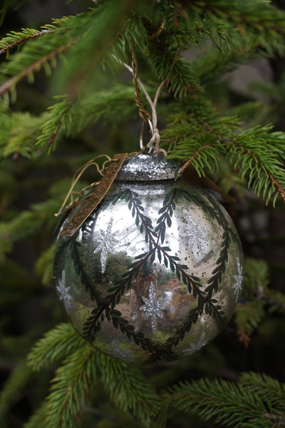 Walther & Co. Glass Pine Garland Ball