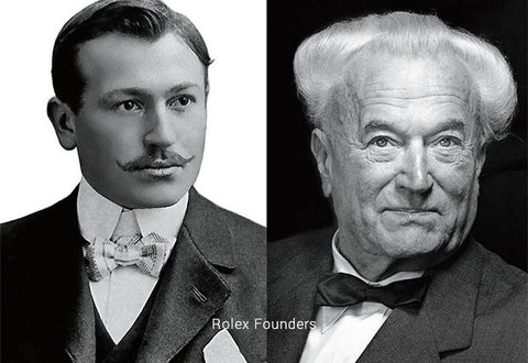 Alfred Davis and Hans Wilsdorf - Founders of Rolex
