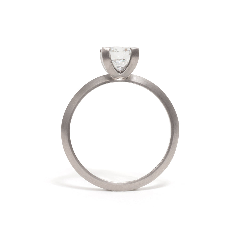 Four Claw Diamond Elevate Ring