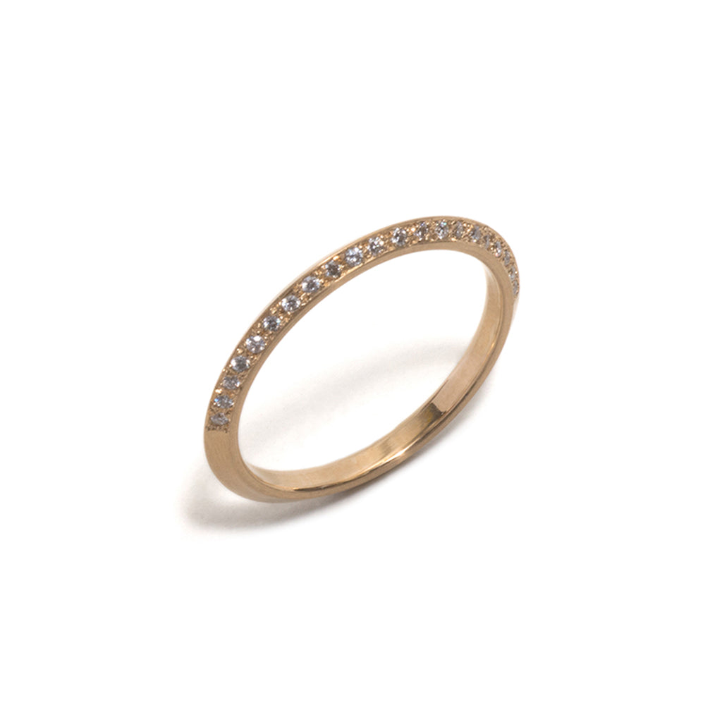 Jewelled Yellow Gold You and Me Ring