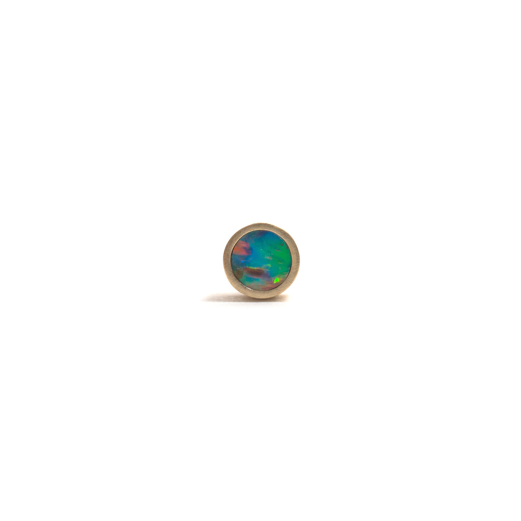 Small Golden Opal Element Single Stud Earrings