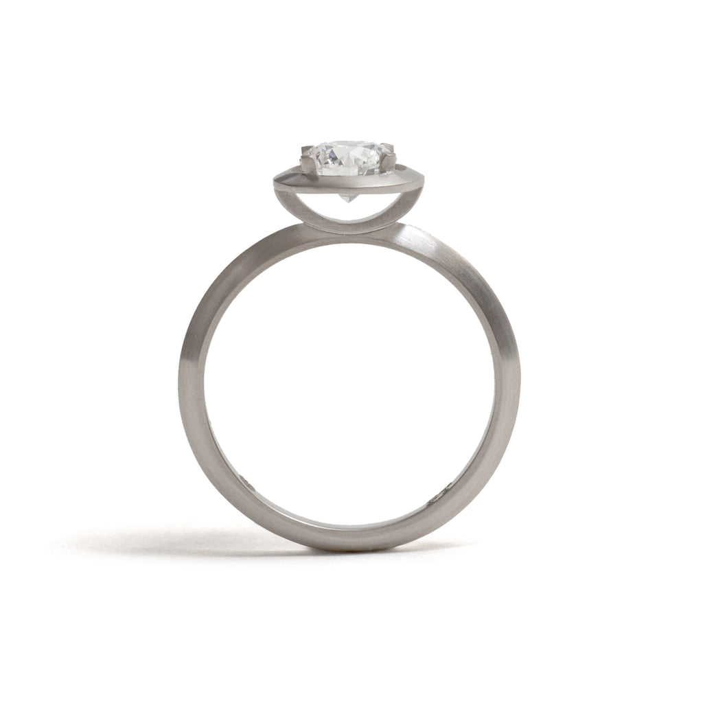 Platinum Four Claw Elevate Diamond Ring