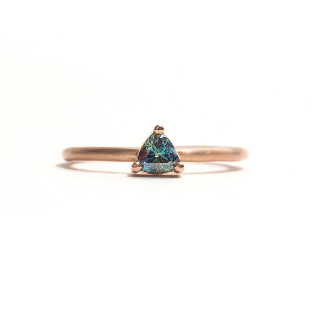 Rose Gold Parti Sapphire Element Stacking Ring