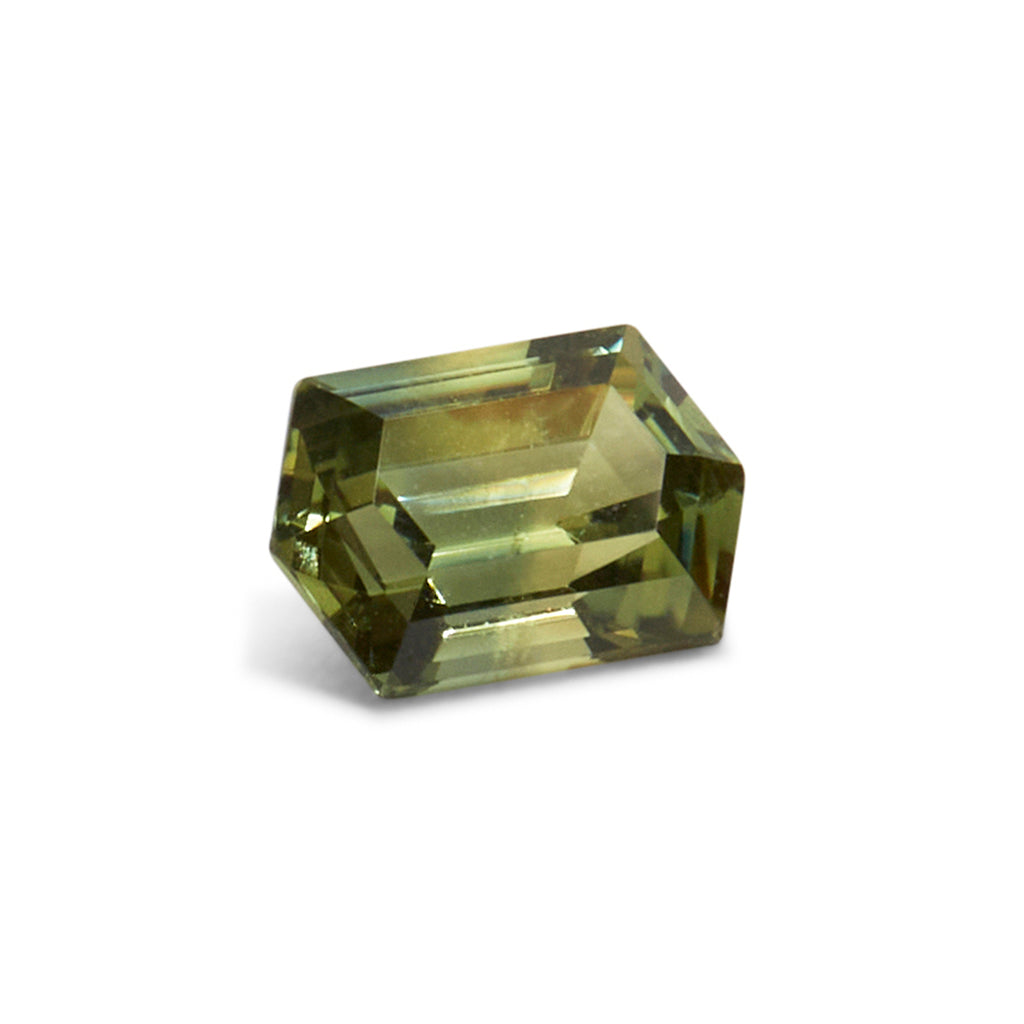 1.60ct Elongated Hexagonal Cut Green/Yellow Australian Parti Sapphire