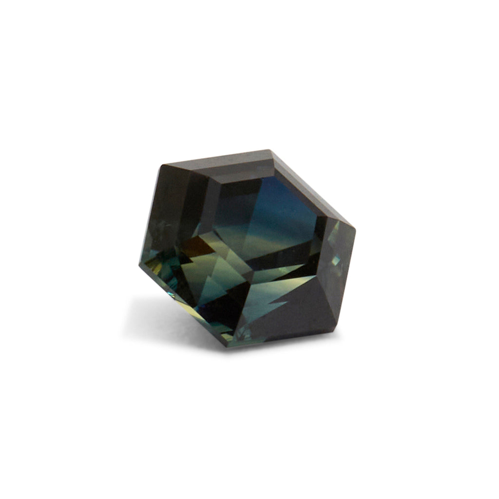 2.22ct Hexagonal Step Cut Blue/Green Australian Parti Sapphire