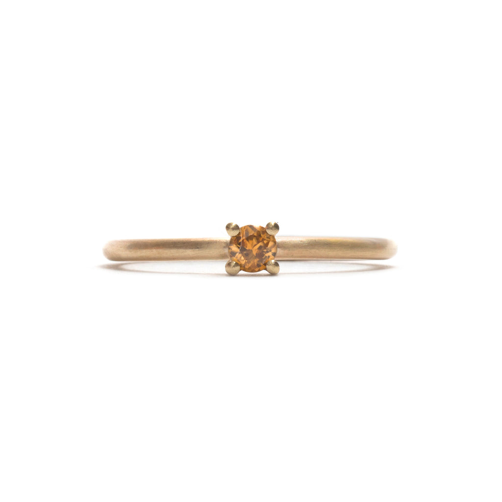 Zircon Element  Small Round Brilliant Cut Stacking Ring