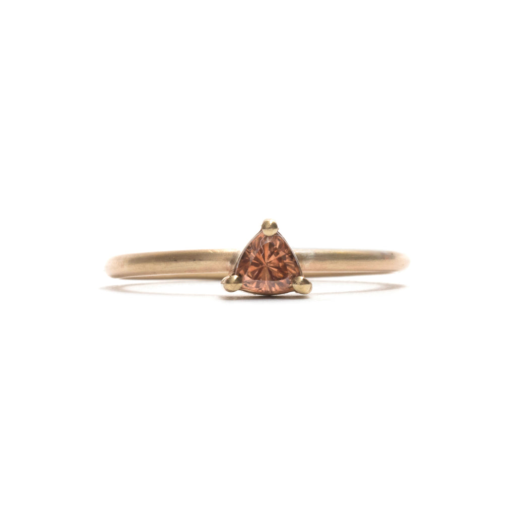 Zircon Element Small Trilliant Cut Stacking Ring