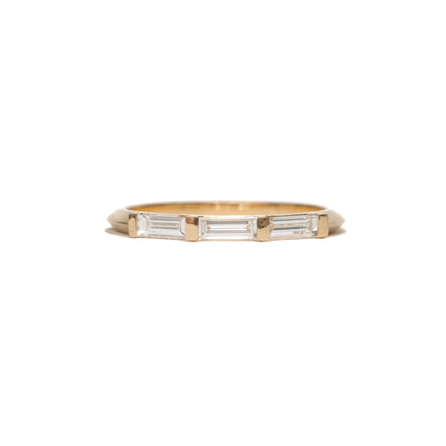 Baguette Knife Edge Ring