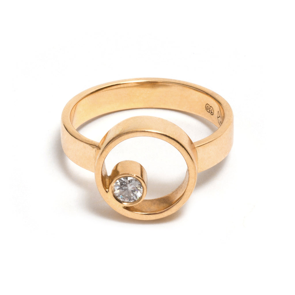 Petite Diamond Circle Ring