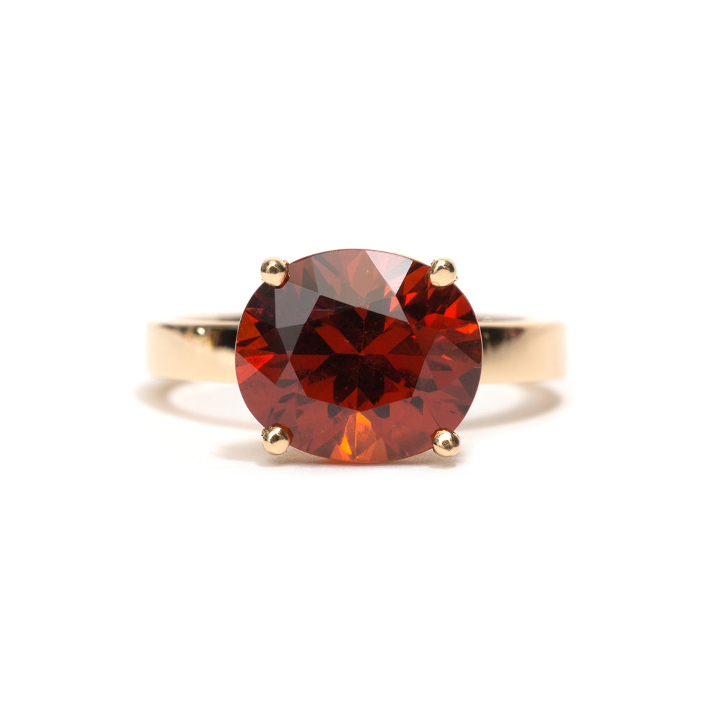Four Claw Garnet Ring