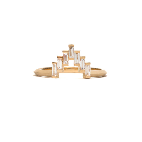 Diamond Baguette Skyline Ring