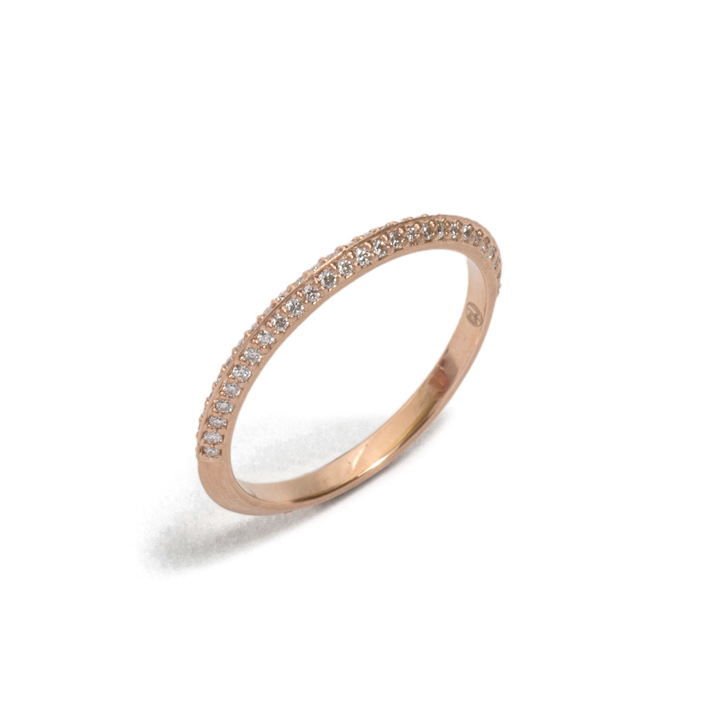 Double Fronted Rose Gold You and Me Ring