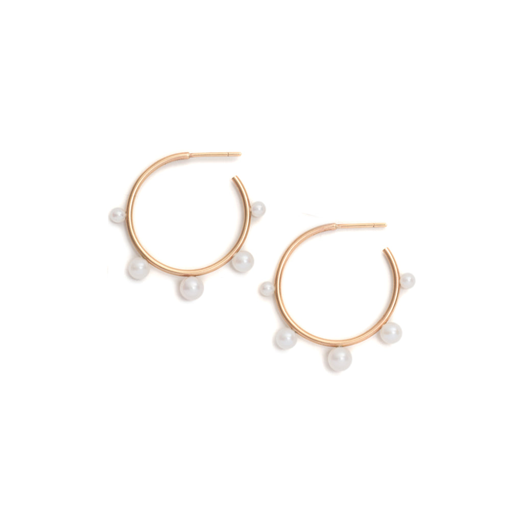 Pearl Extrovert Hoop Earrings