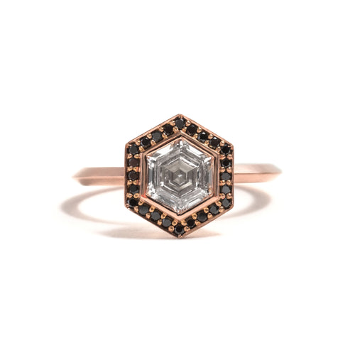 Hexagonal Halo Ring