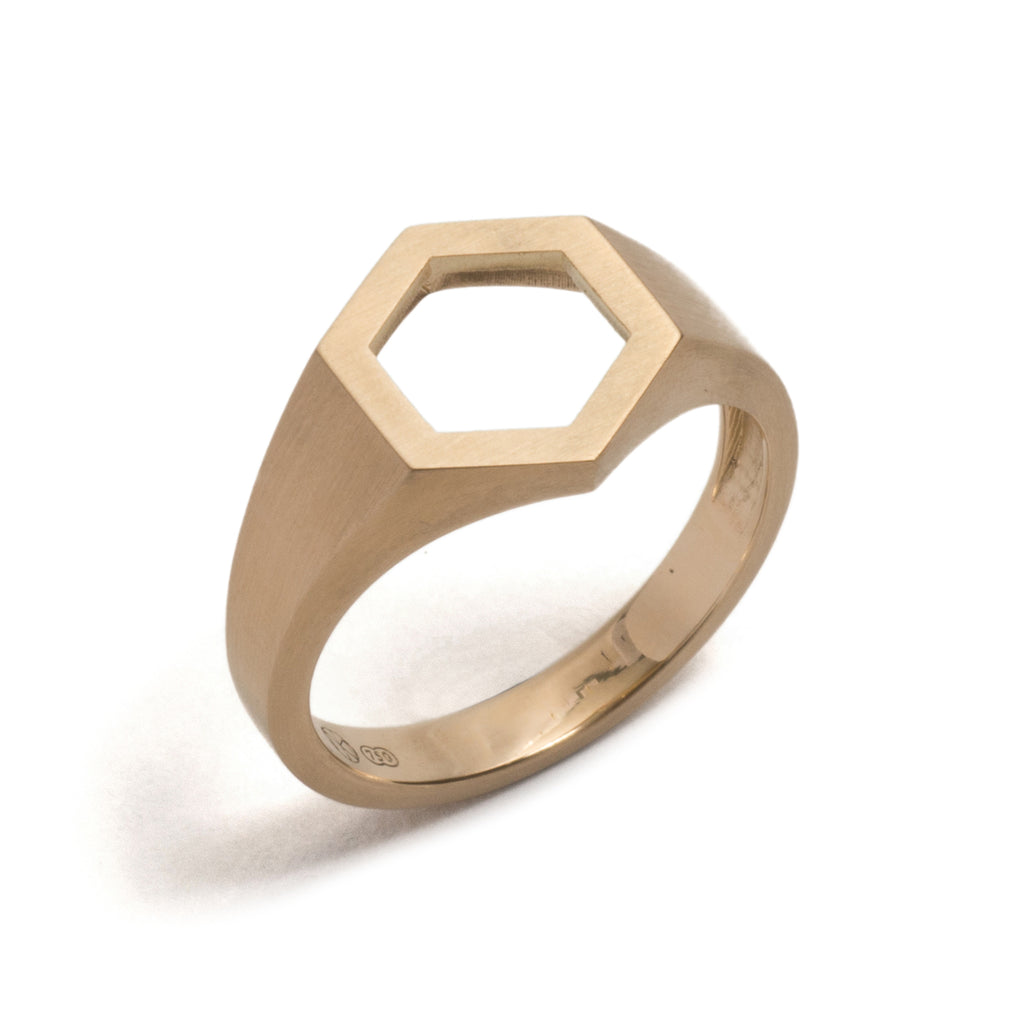 Hexagonal Signet Ring