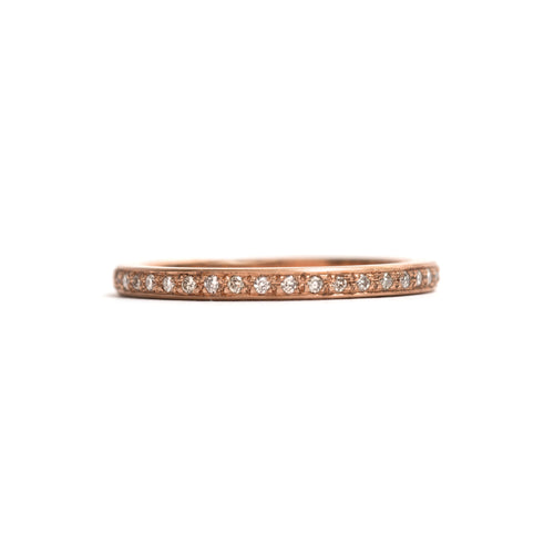 Rose Gold and Champagne Diamonds Little Steps Ring