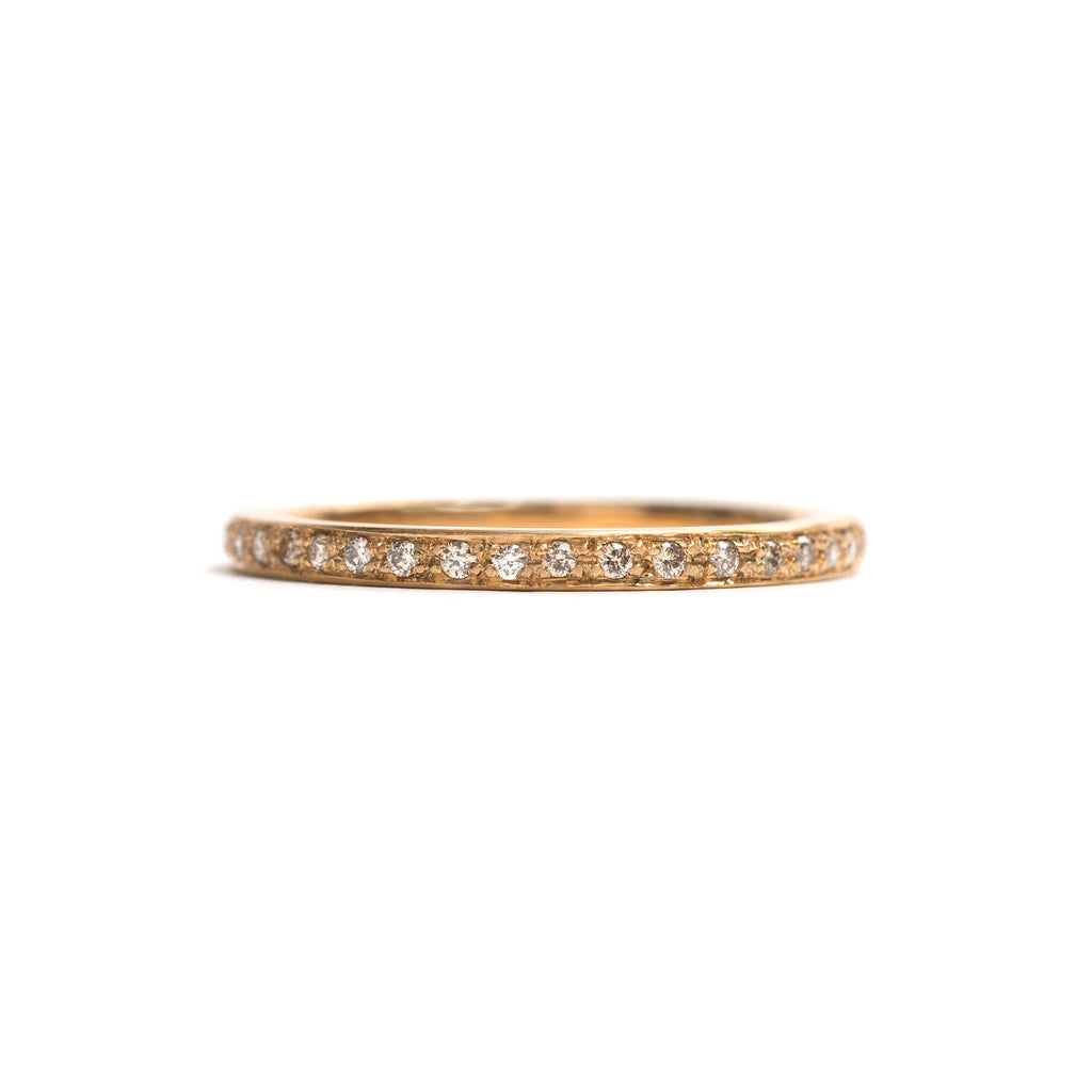 Yellow Gold and Champagne Diamonds Little Steps Ring