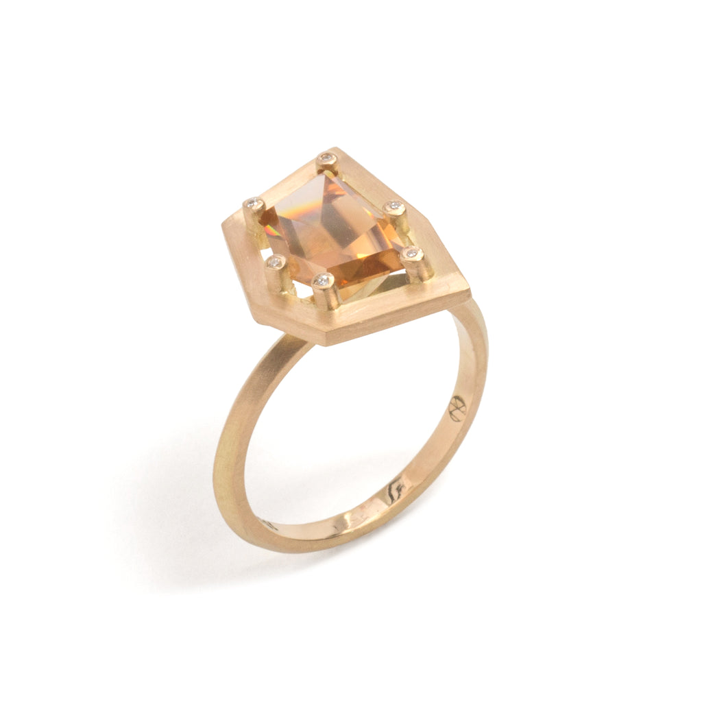 Golden Zircon Elevate Ring