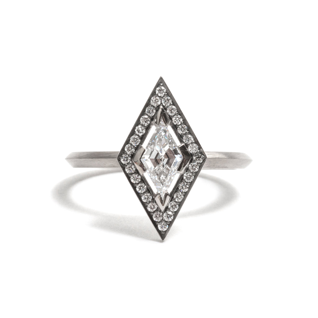 Kite Diamond Elevate Halo Ring