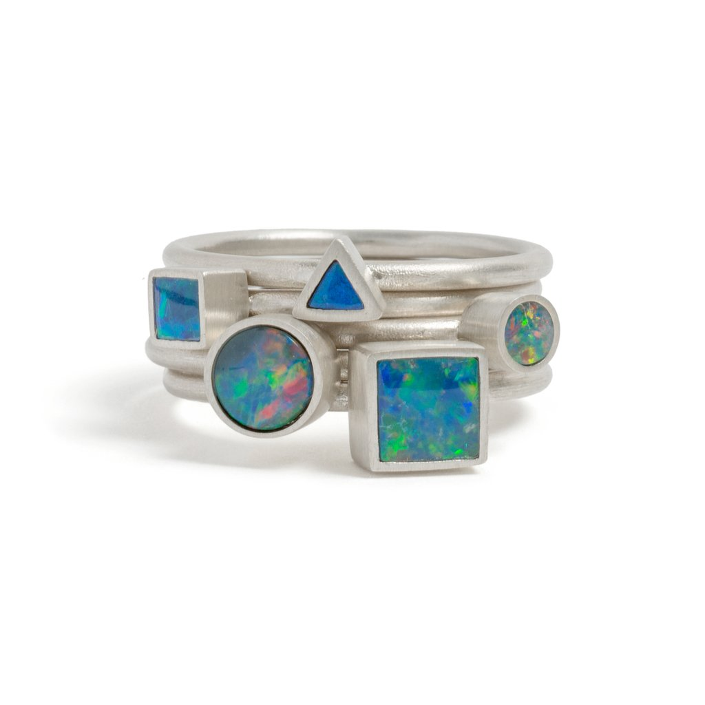 Opal Element Small Stacking Ring