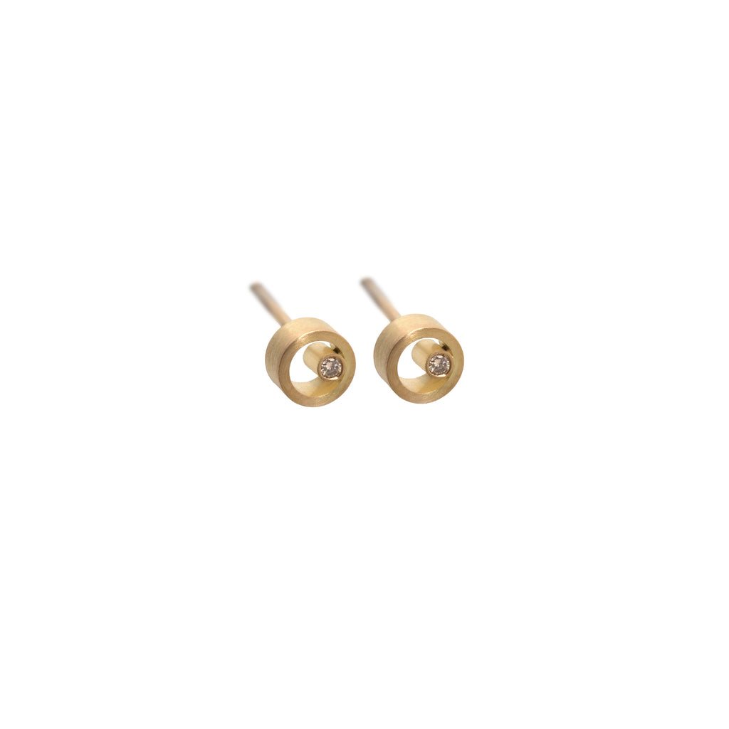 Petite Circle Stud Earrings