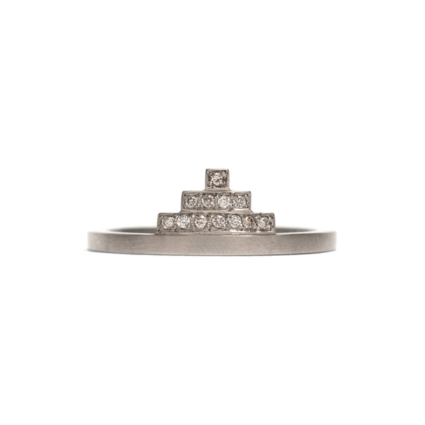3 Row Pyramid Diamond Ring