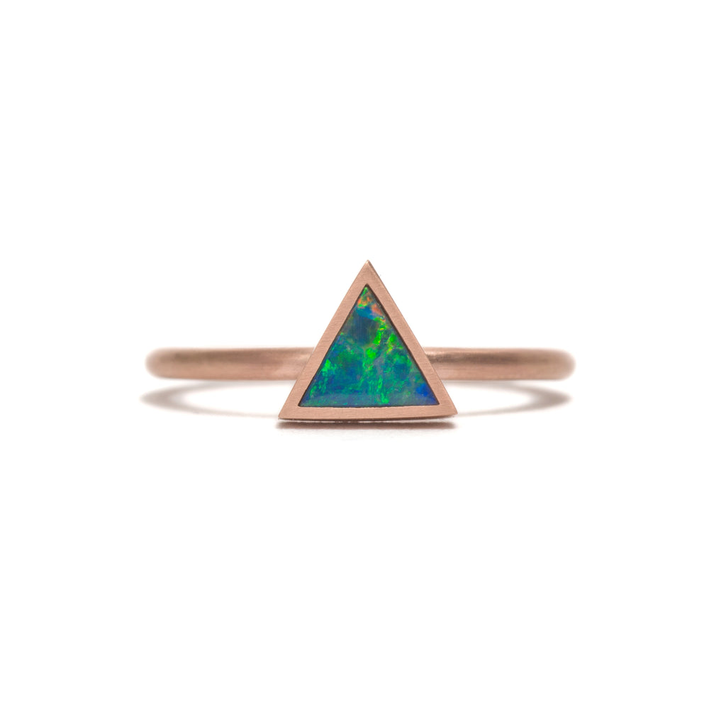 Golden Opal Element Large Stacking Ring