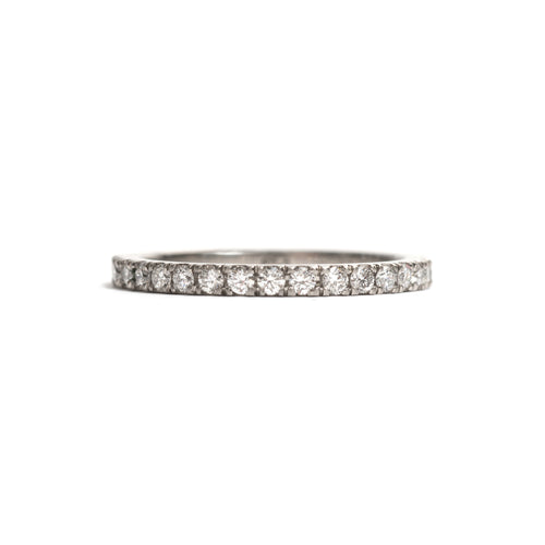 Platinum and White Diamonds Side by Side Ring