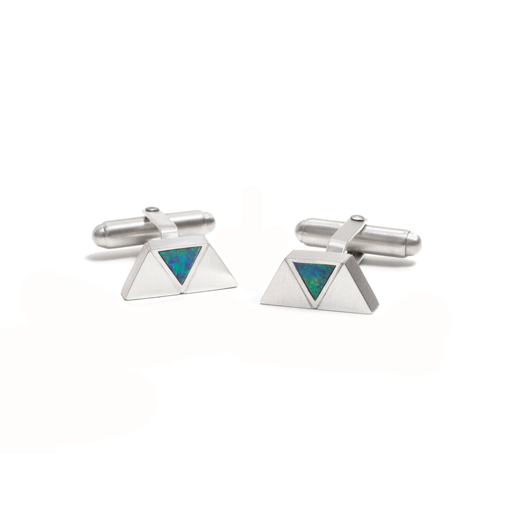 Triangle Opal Element Cufflinks
