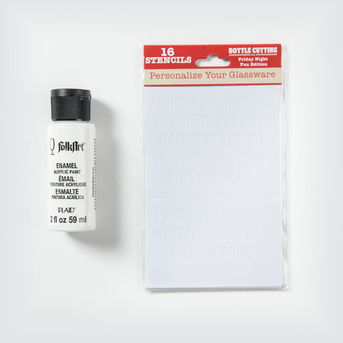 Stencil and Paint Kit