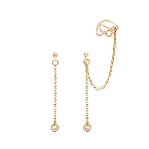 Cascade Ear Cuff Set - Gold
