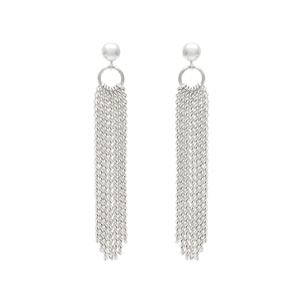Flourish Earrings - Silver