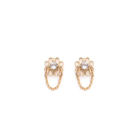 Ella Chain Studs - Gold