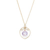 Filigree Drop Necklace - Gold with Pink Amethyst