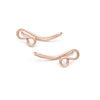 Filigree Ear Climbers - Rose Gold