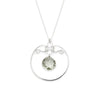 Gala Necklace - Silver with Green Amethyst