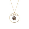 Gala Necklace - Gold with Smokey Quartz