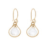 Jewel Drop Earrings - Gold with Clear Quartz