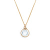 Jewel Drop Necklace - Gold with Blue Topaz