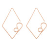 Large Diamond Earrings - Rose Gold