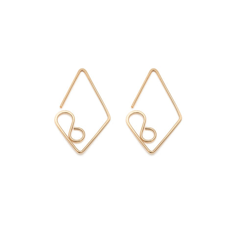 Medium Diamond Earrings - Gold