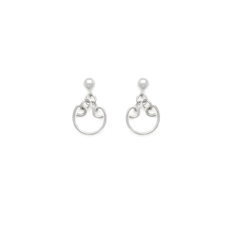 Mini Athena Earrings - Silver