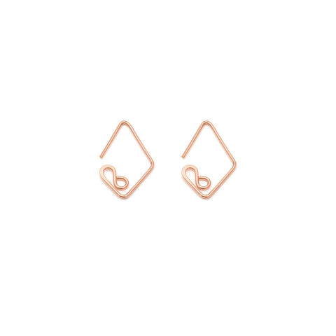 Mini Diamond Earrings - Rose Gold