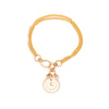 Filigree Monogram Bracelet - Gold