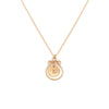 Filigree Monogram Necklace - Gold